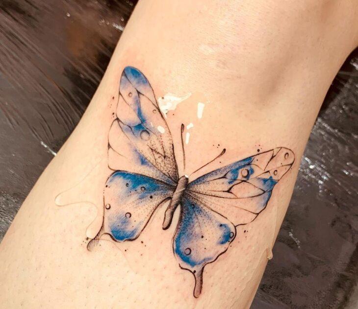 tatuagem de borboleta 80
