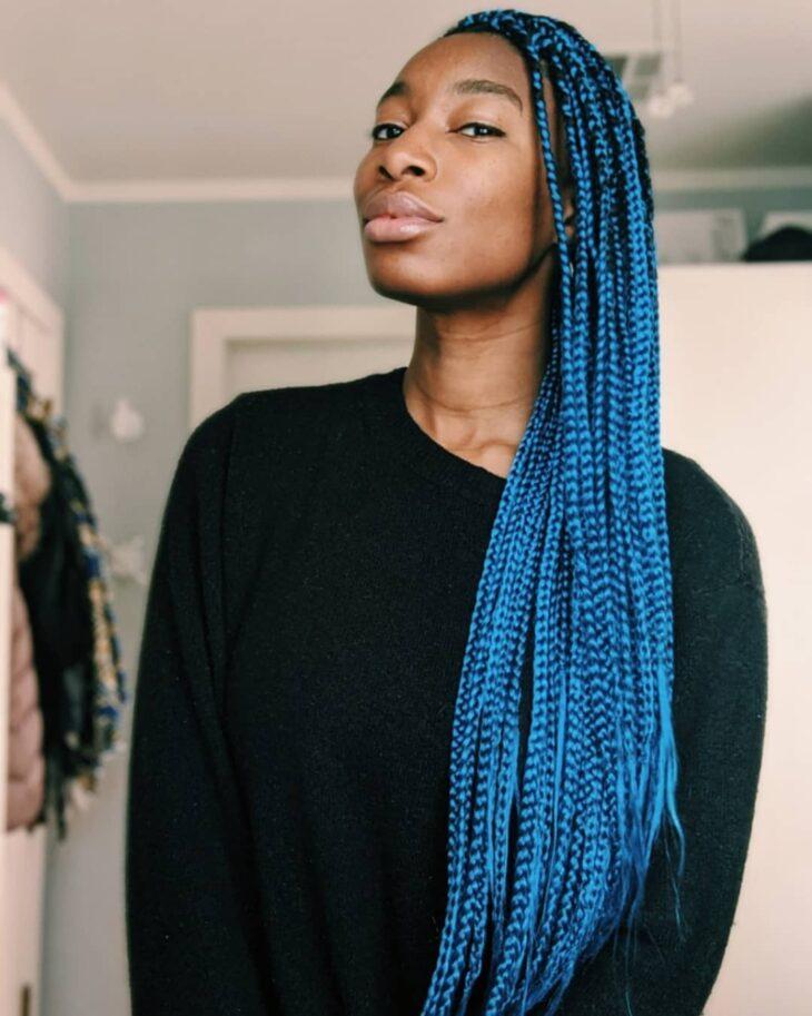 box braids azul 21