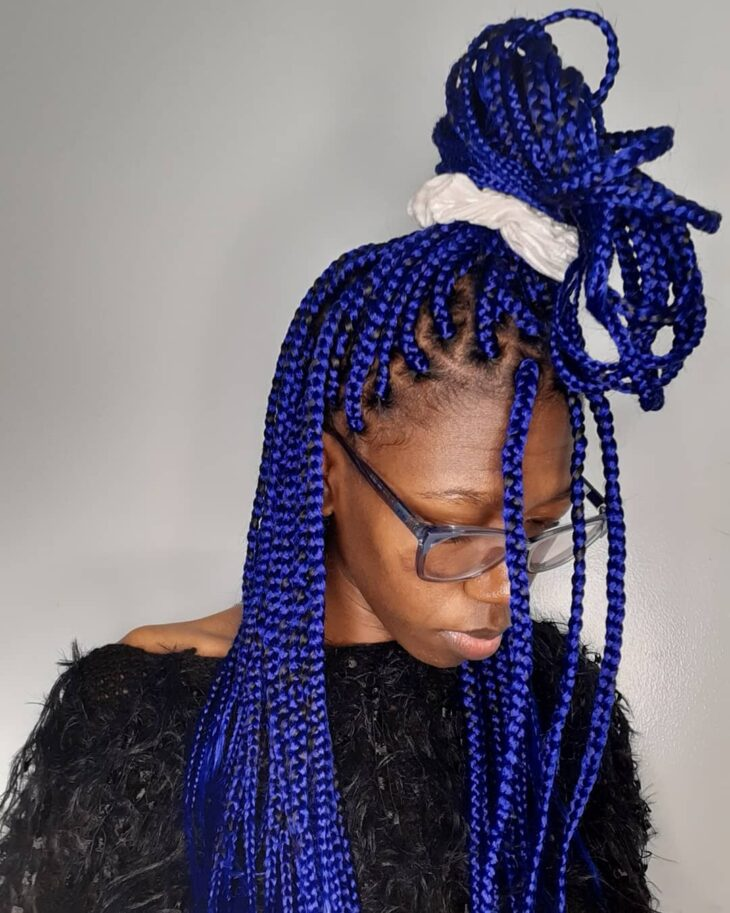 box braids azul 16