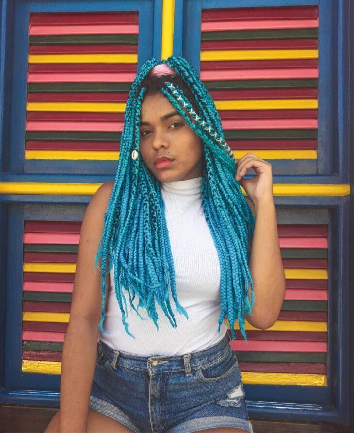 box braids azul 20