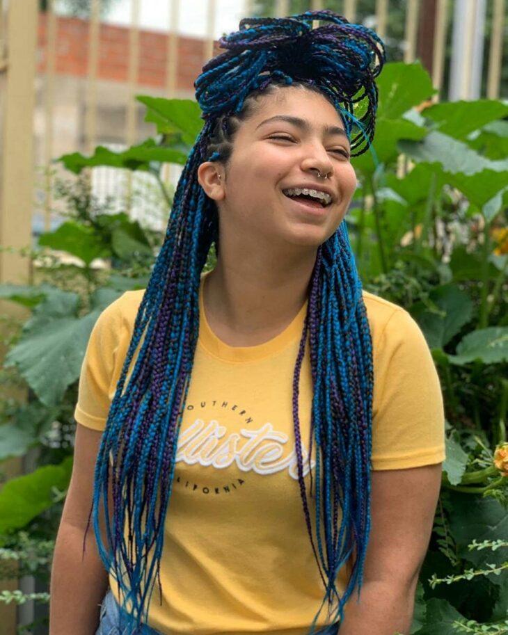 box braids azul 25
