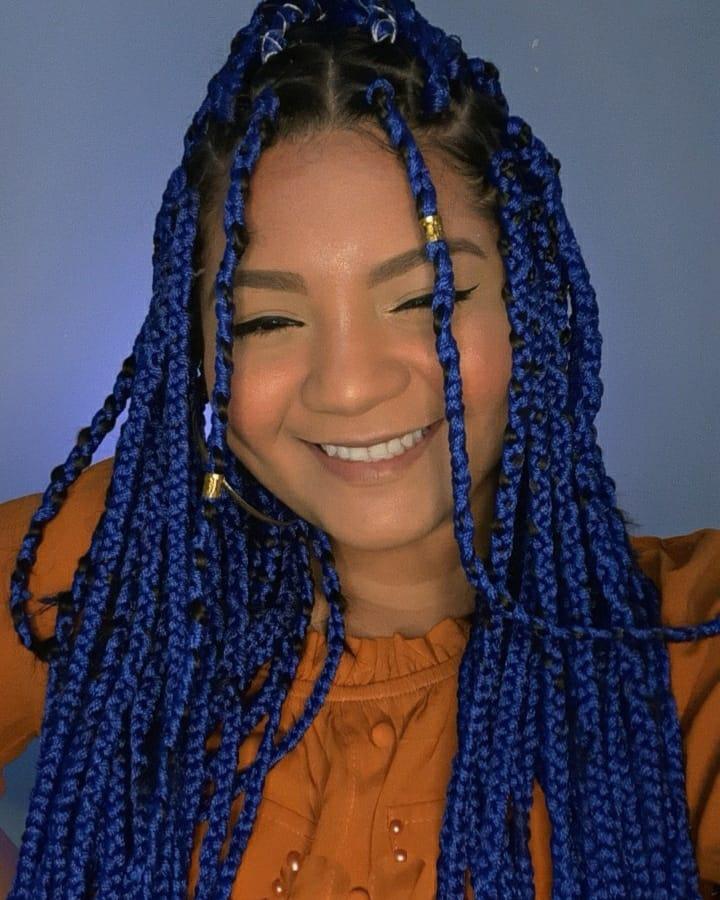 box braids azul 29