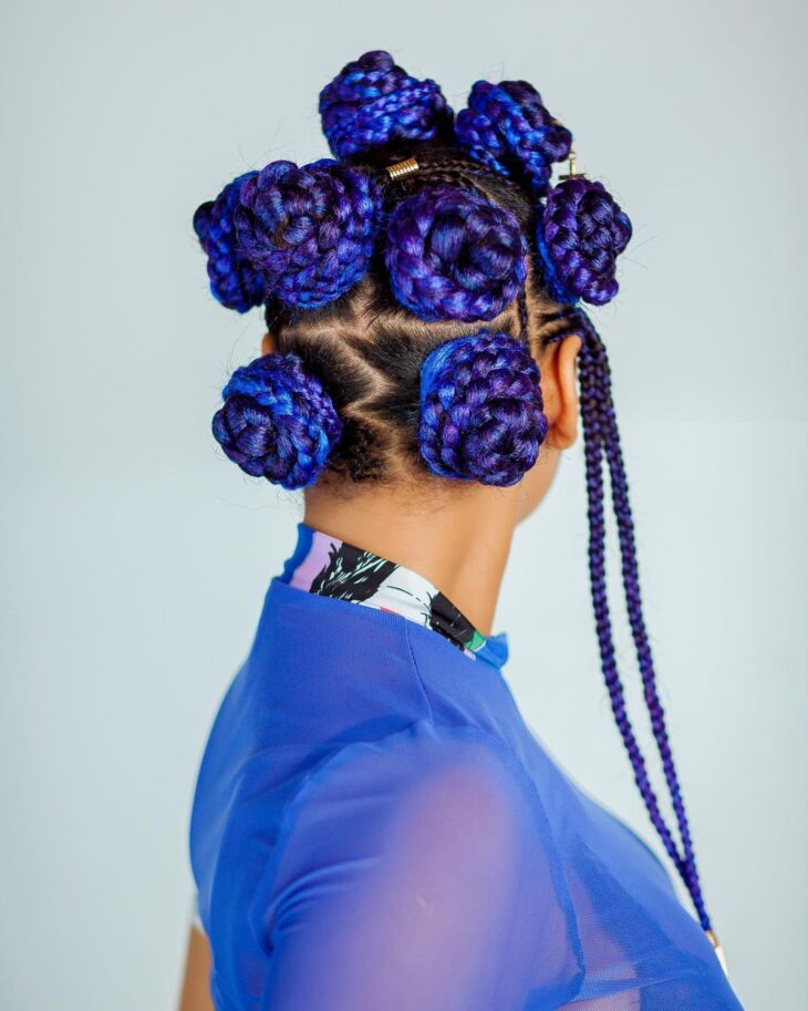 box braids azul 31