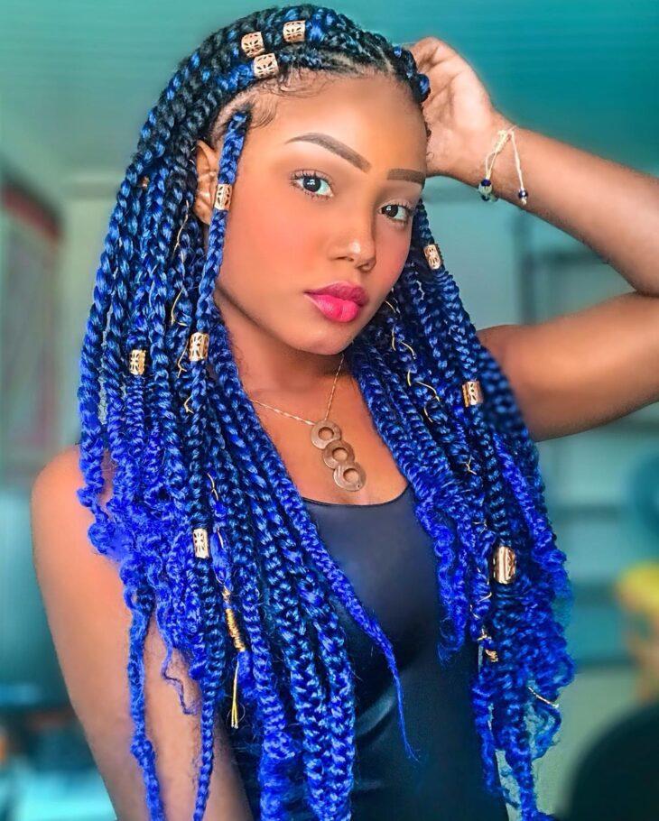 box braids azul 33