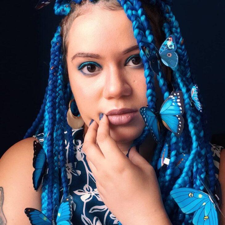 box braids azul 38