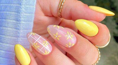 60 ideias para inovar na aparência das suas unhas com esmalte amarelo