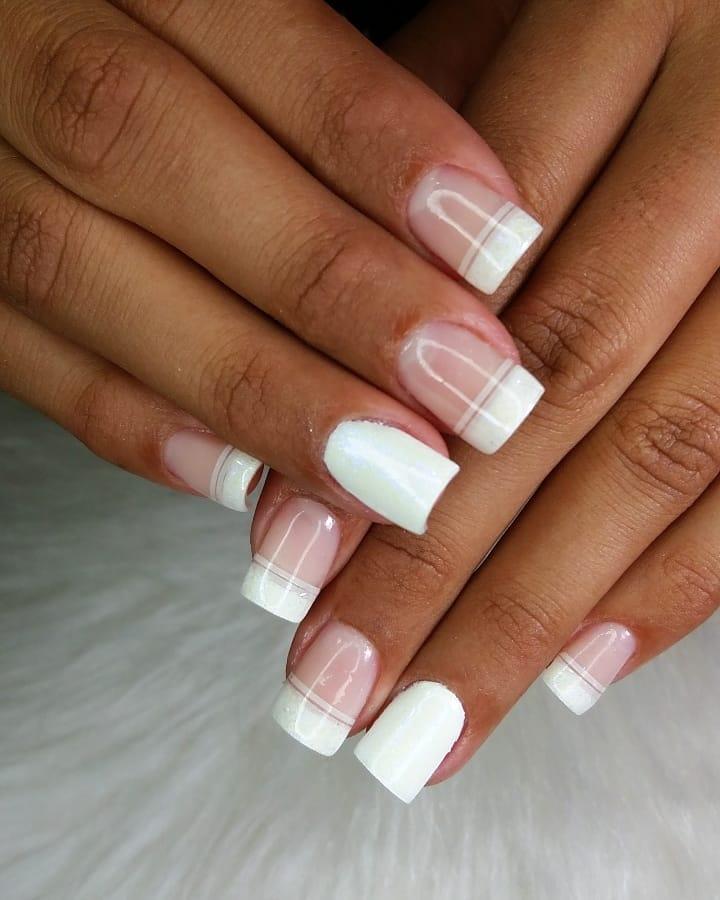 50 unhas com esmalte branco que provam a beleza desse tom clássico - 29