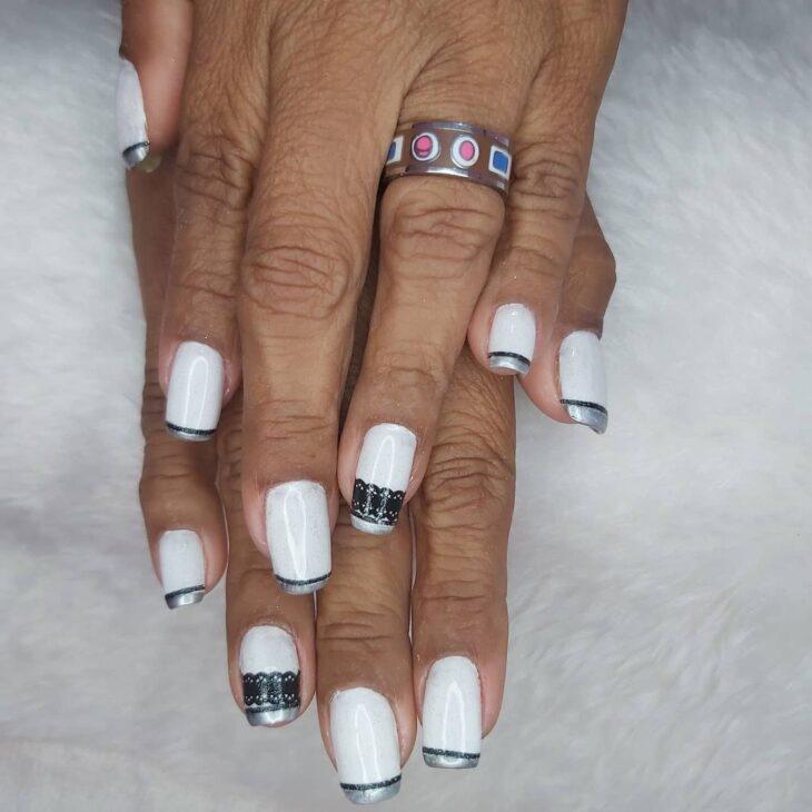 50 unhas com esmalte branco que provam a beleza desse tom clássico - 43