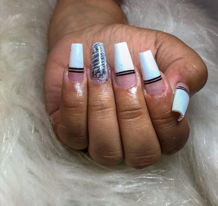 50 unhas com esmalte branco que provam a beleza desse tom clássico - 49