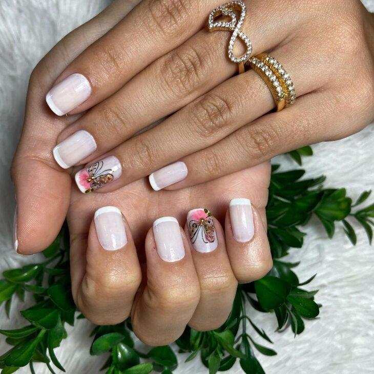 50 unhas com esmalte branco que provam a beleza desse tom clássico - 51