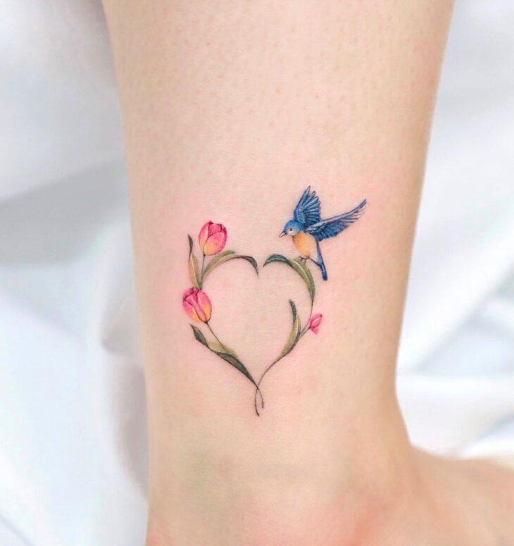 100 ideias encantadoras de tatuagem de coração para transbordar amor - 17