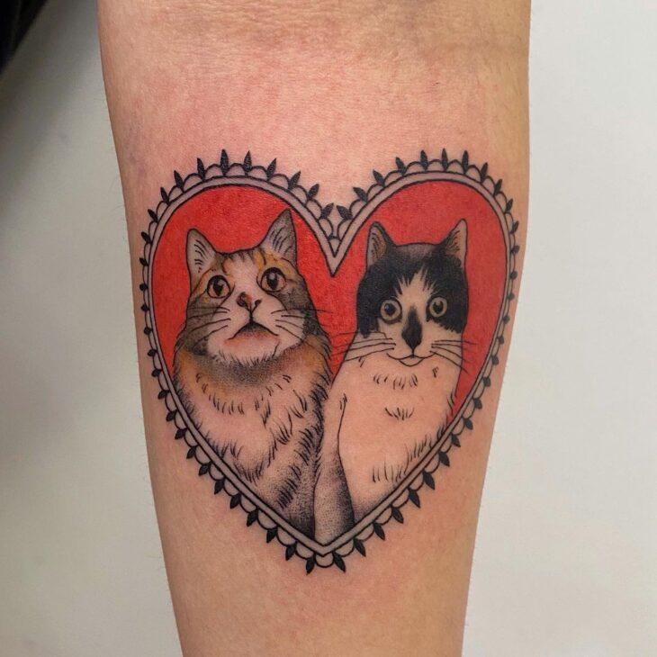 100 ideias encantadoras de tatuagem de coração para transbordar amor - 23