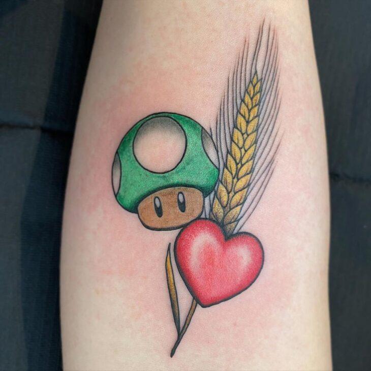 100 ideias encantadoras de tatuagem de coração para transbordar amor - 29