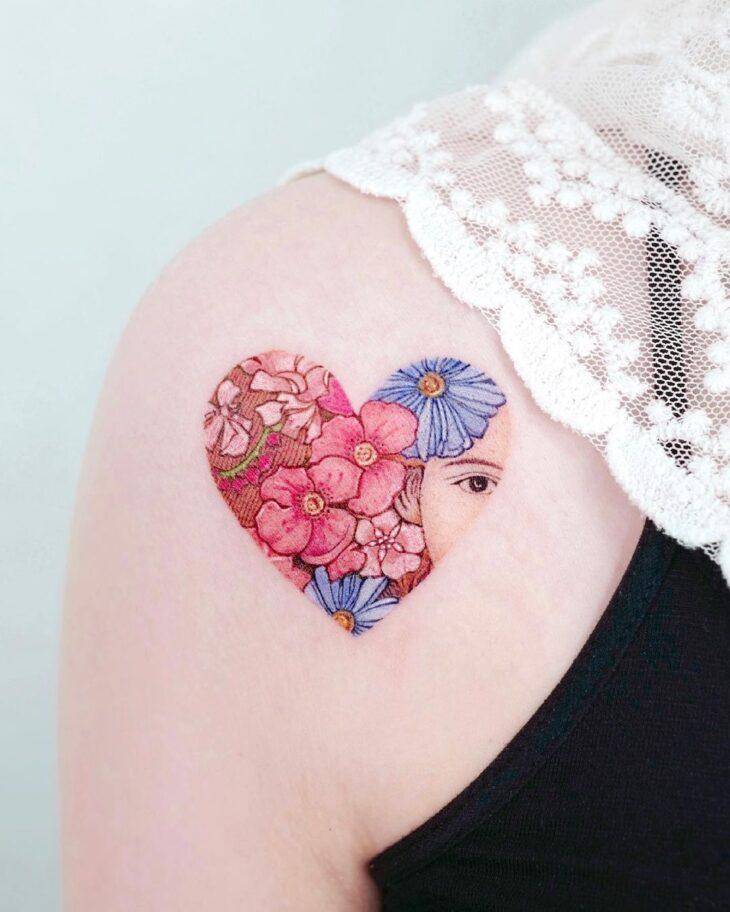 100 ideias encantadoras de tatuagem de coração para transbordar amor - 31