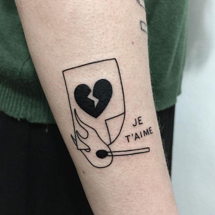 100 ideias encantadoras de tatuagem de coração para transbordar amor - 33