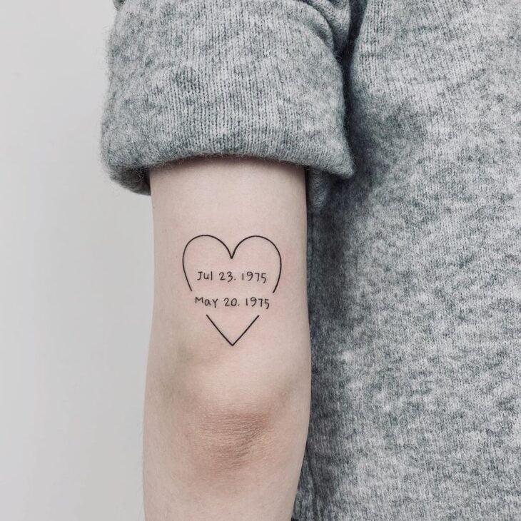 100 ideias encantadoras de tatuagem de coração para transbordar amor - 35