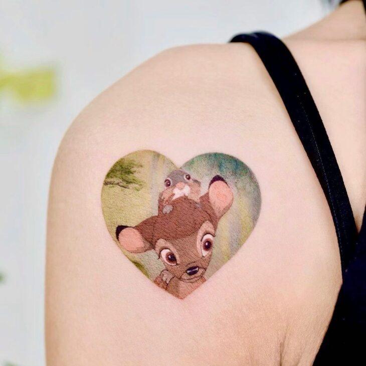 100 ideias encantadoras de tatuagem de coração para transbordar amor - 36