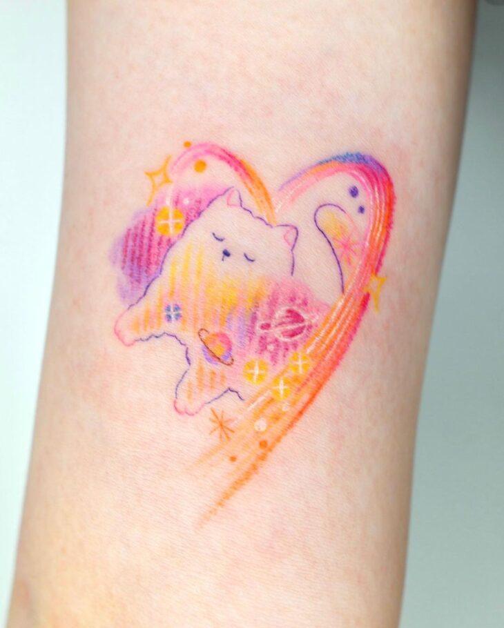 100 ideias encantadoras de tatuagem de coração para transbordar amor - 43