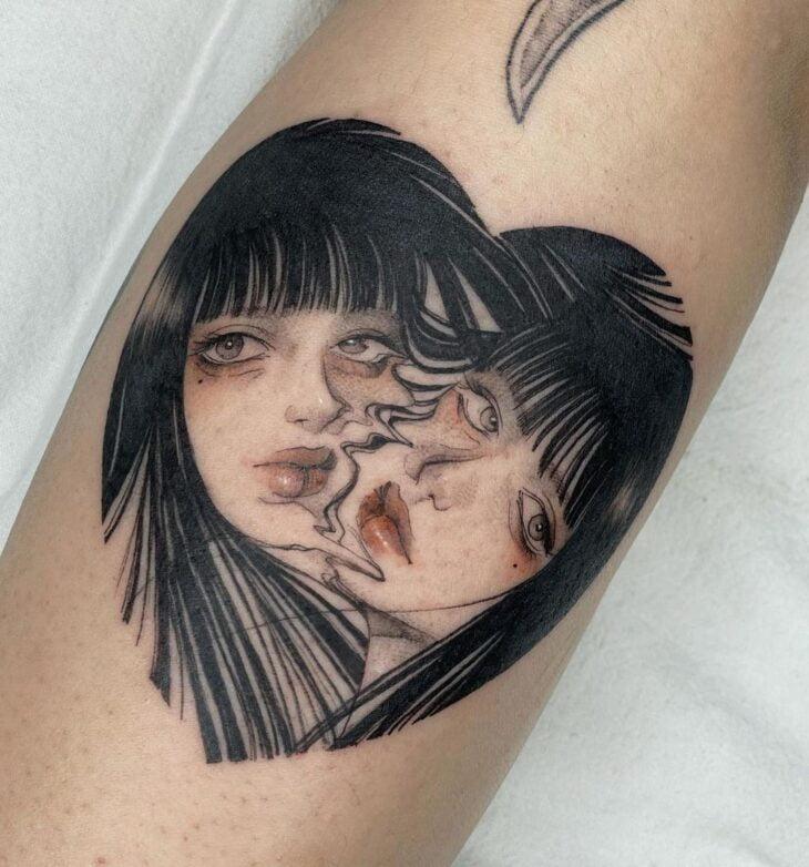 100 ideias encantadoras de tatuagem de coração para transbordar amor - 45