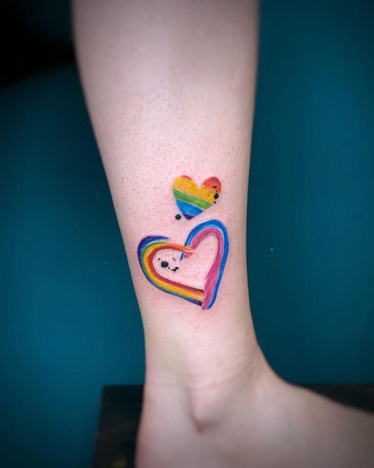 100 ideias encantadoras de tatuagem de coração para transbordar amor - 49