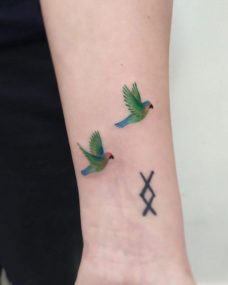 85 ideias de tatuagem de pássaros simplesmente encantadoras - 2