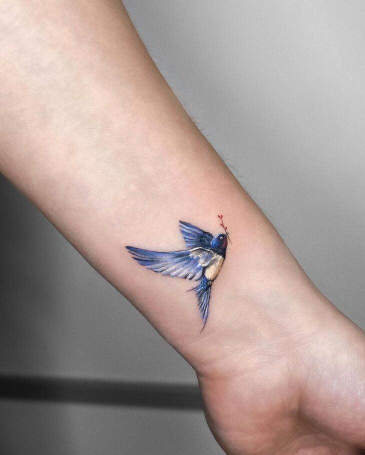 85 ideias de tatuagem de pássaros simplesmente encantadoras - 6