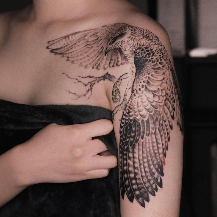 85 ideias de tatuagem de pássaros simplesmente encantadoras - 34