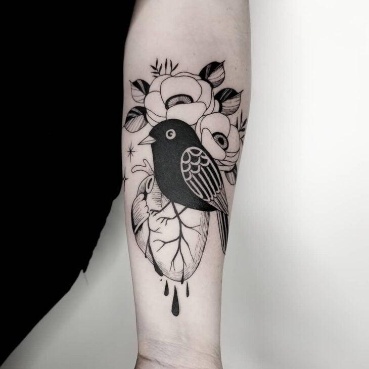 85 ideias de tatuagem de pássaros simplesmente encantadoras - 36