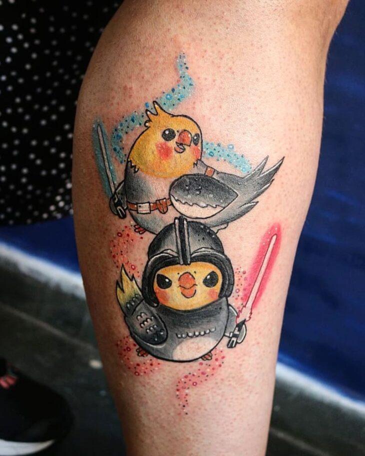 85 ideias de tatuagem de pássaros simplesmente encantadoras - 42
