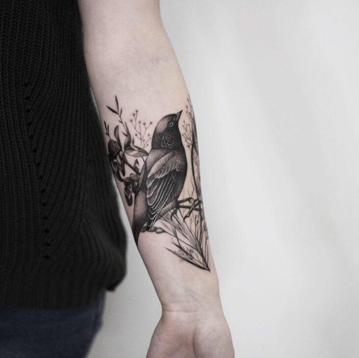 85 ideias de tatuagem de pássaros simplesmente encantadoras - 45