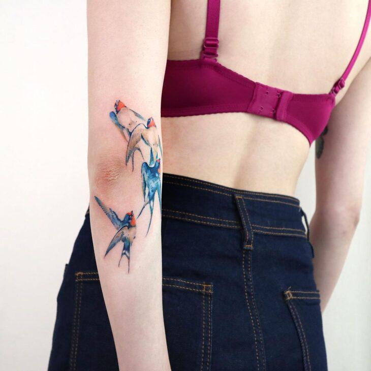 85 ideias de tatuagem de pássaros simplesmente encantadoras - 48