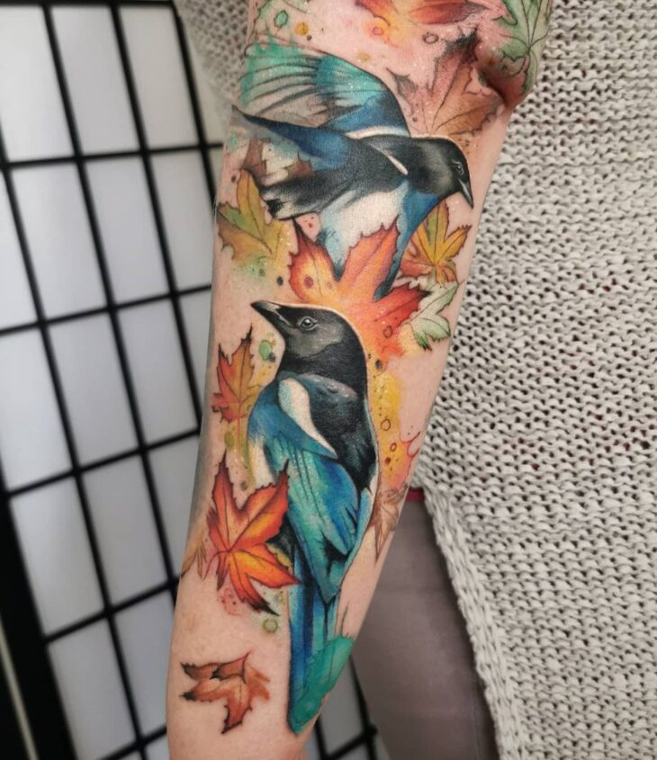 85 ideias de tatuagem de pássaros simplesmente encantadoras - 51