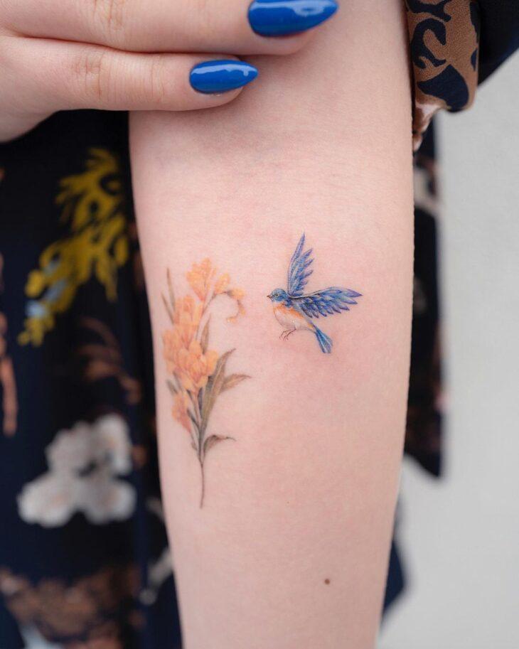 85 ideias de tatuagem de pássaros simplesmente encantadoras - 53