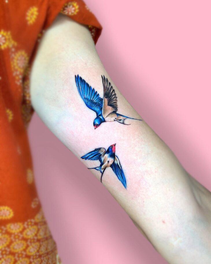 85 ideias de tatuagem de pássaros simplesmente encantadoras - 61