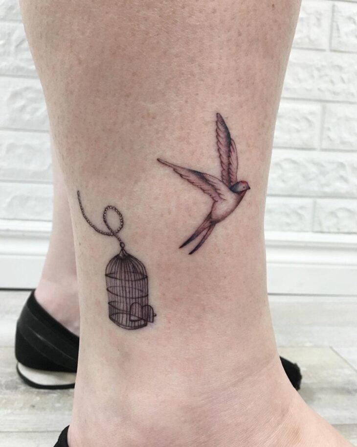 85 ideias de tatuagem de pássaros simplesmente encantadoras - 75