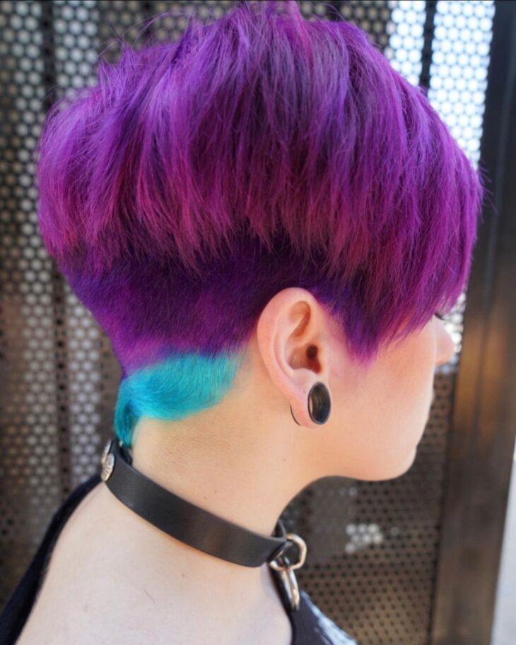 cabelo curto colorido 43