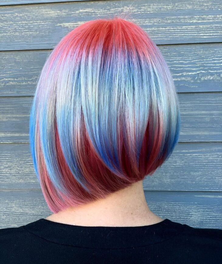 cabelo curto colorido 34