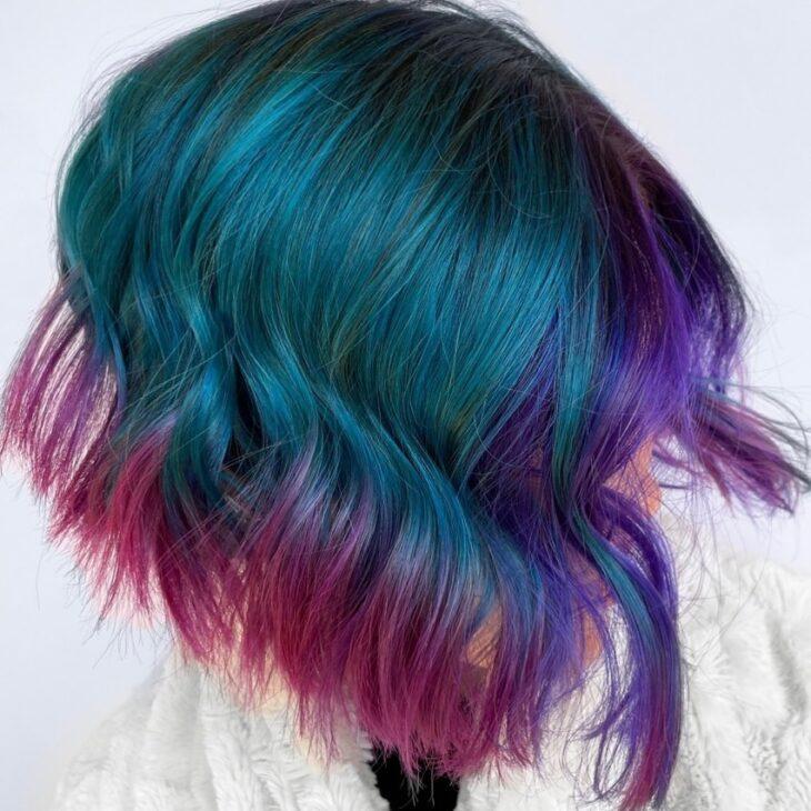 cabelo curto colorido 36