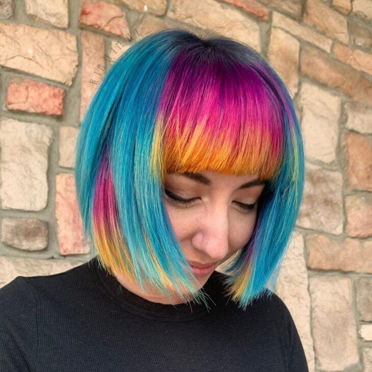 cabelo curto colorido 30