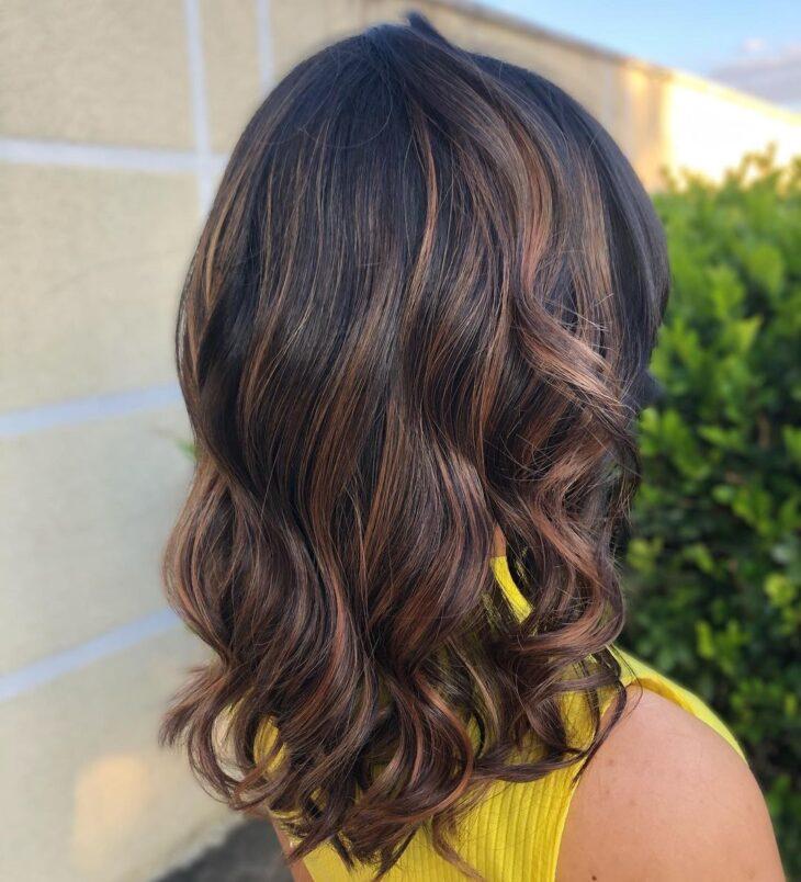 cabelo preto com luzes 30
