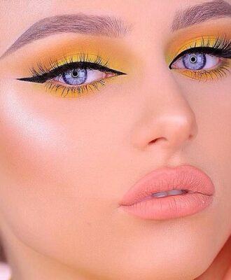 40 ideias de maquiagem amarela para ousar com um visual radiante