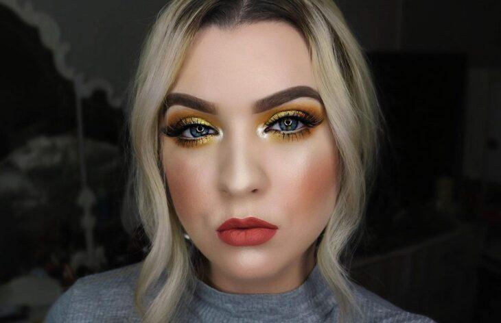 maquiagem amarela 16
