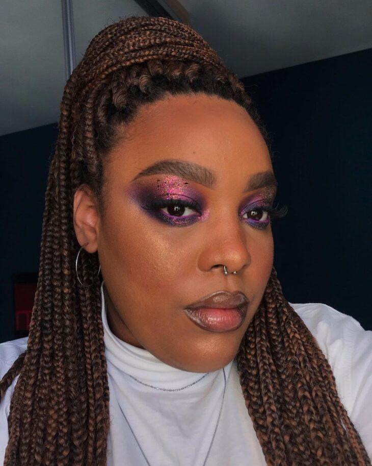 40 ideias de maquiagem roxa para fugir do tradicional e esbanjar estilo - 11