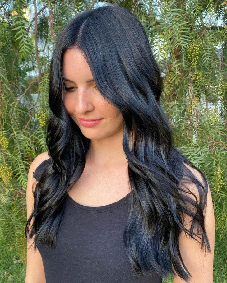 cabelo preto azulado 21