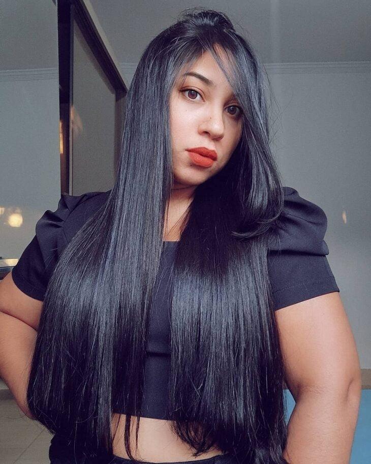cabelo preto azulado 29