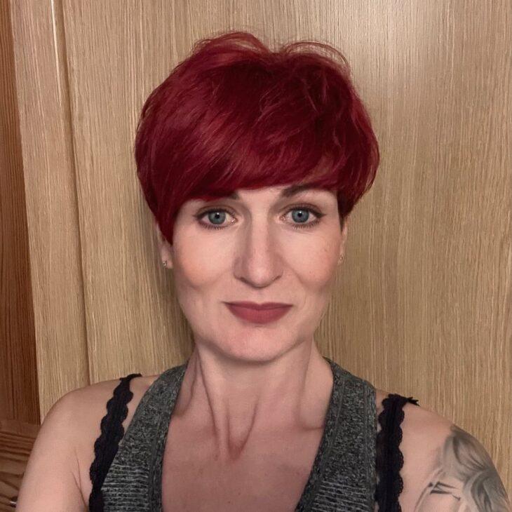 cabelo ruivo curto 40
