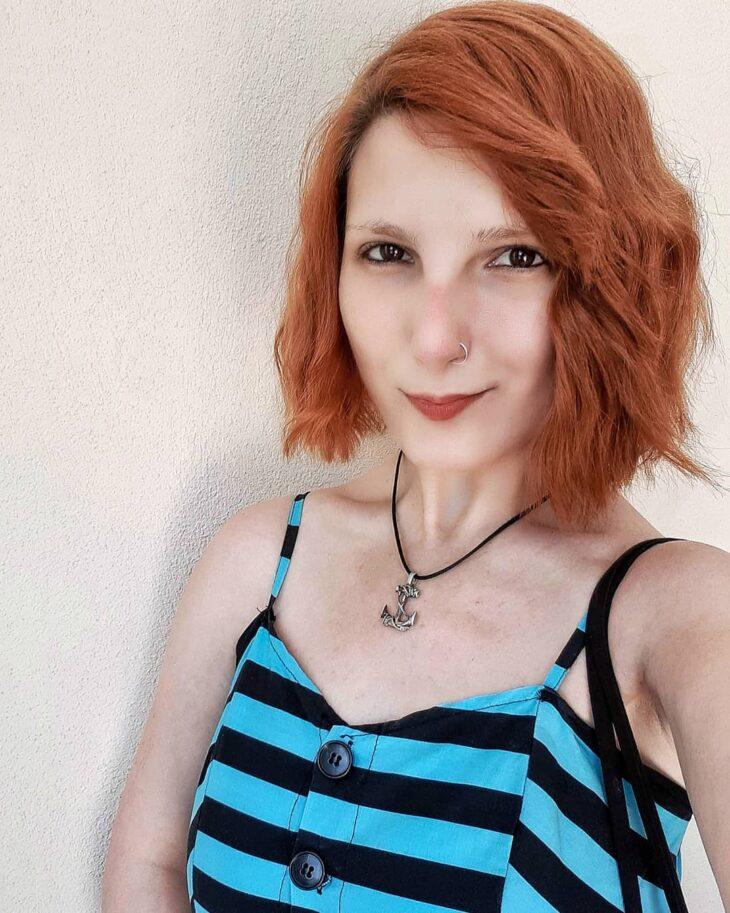 cabelo ruivo curto 46