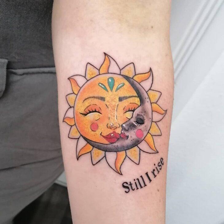 tatuagem de sol e lua 19