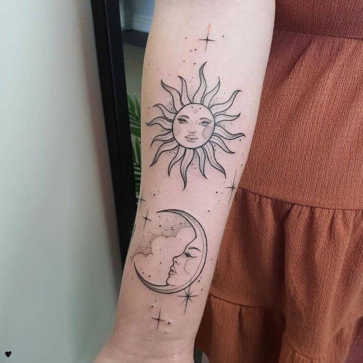 tatuagem de sol e lua 1