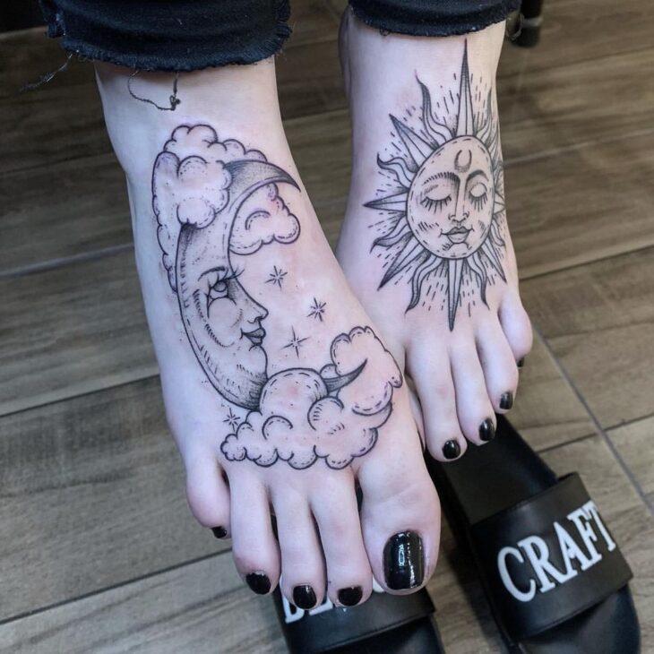 tatuagem de sol e lua 11